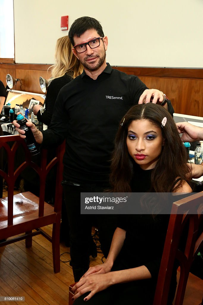 Stylist Marco Pena attends the TRESemme at Mara Hoffman A/W16 Presentation at High Line Hotel, The Refectory on February 13, 2016 in New York City.