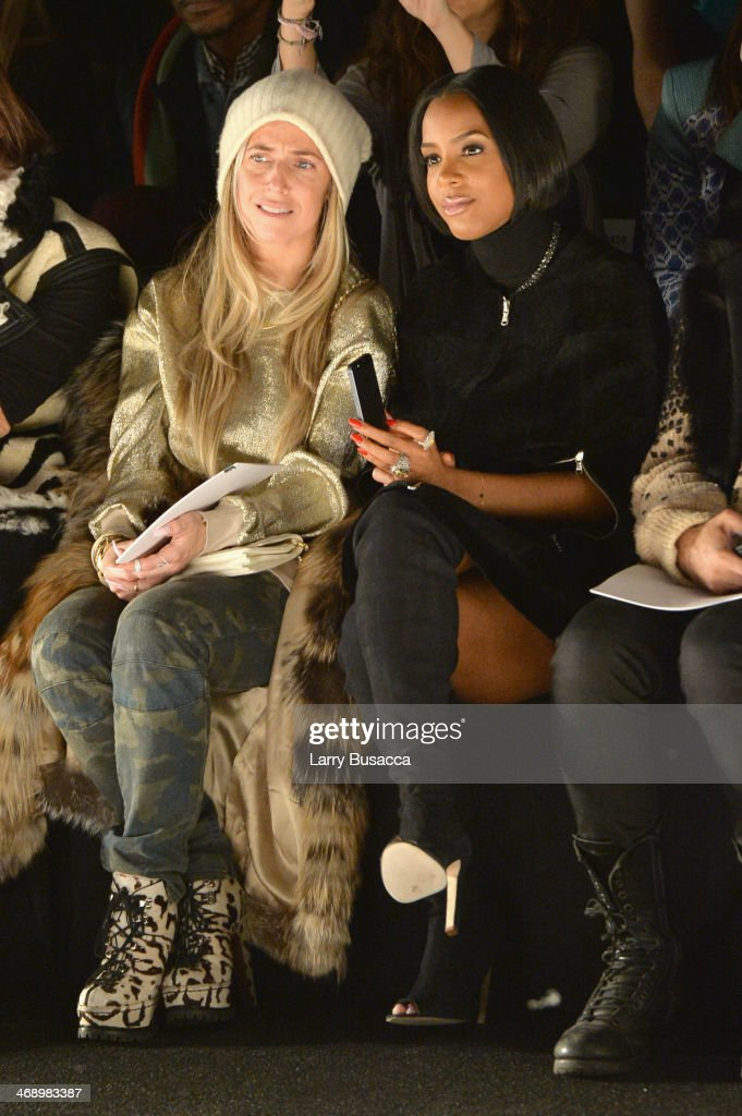 Stylist Marni Senofonte and singer <a gi-track='captionPersonalityLinkClicked' href=/galleries/search?phrase=Kelly+Rowland&family=editorial&specificpeople=201760 ng-click='$event.stopPropagation()'>Kelly Rowland</a> attend the Kaufmanfranco fashion show during Mercedes-Benz Fashion Week Fall 2014 at The Theatre at Lincoln Center on February 12, 2014 in New York City.