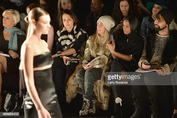Stylist Marni Senofonte singer Kelly Rowland and Ty Hunter attend the Kaufmanfranco fashion show during MercedesBenz Fashion Week Fall 2014 at The...