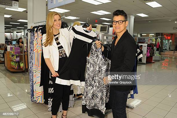 Stylist Mary Alice Stephenson and Designer Peter Som pose as Kohls and Peter Som host an exclusive blogger event with Stylist Mary Alice Stephenson...