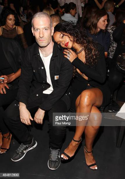 Stylist Mel Ottenberg and Rihanna attend the Altuzarra fashion show during MercedesBenz Fashion Week Spring 2015 at Spring Studios on September 6...