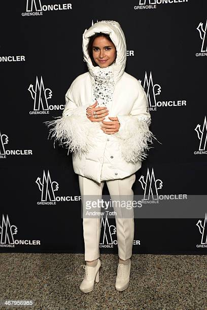 Stylist Miroslava Duma attends the Moncler Grenoble Fall 2014 Presentation at the Hammerstein Ballroom on February 8 2014 in New York City