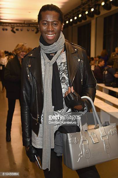 Stylist Miss J Alexander attends the Zac Posen Fall 2016 fashion show during New York Fashion Week at Spring Studios on February 15 2016 in New York...