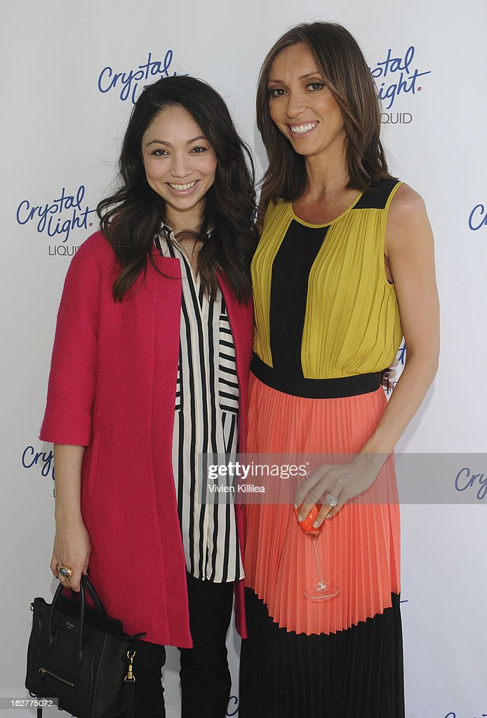Stylist Monica Rose and style icon <a gi-track='captionPersonalityLinkClicked' href=/galleries/search?phrase=Giuliana+Rancic&family=editorial&specificpeople=556124 ng-click='$event.stopPropagation()'>Giuliana Rancic</a> attend <a gi-track='captionPersonalityLinkClicked' href=/galleries/search?phrase=Giuliana+Rancic&family=editorial&specificpeople=556124 ng-click='$event.stopPropagation()'>Giuliana Rancic</a> And Crystal Light Liquid Toast Red Carpet Style at SLS Hotel on February 26, 2013 in Los Angeles, California.