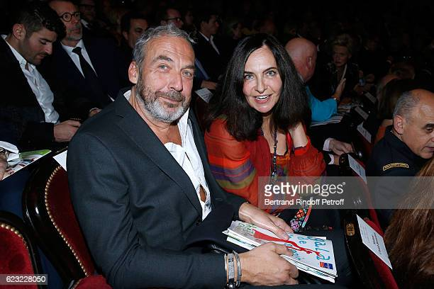 Stylist Nathalie Garcon and her companion attend the 24th 'Gala de l'Espoir' at Theatre du Chatelet on November 14 2016 in Paris France