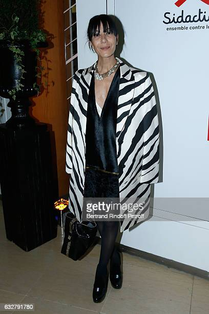 Stylist of Lanvin Women Bouchra Jarrar attends the Sidaction Gala Dinner 2017 Haute Couture Spring Summer 2017 show as part of Paris Fashion Week on...