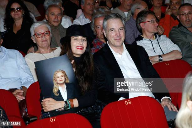 Stylist of Sylvie's Scene Costume Olivier Lapidus and his wife Yara Lapidus attend Sylvie Vartan Performs at L'Olympia on September 16 2017 in Paris...