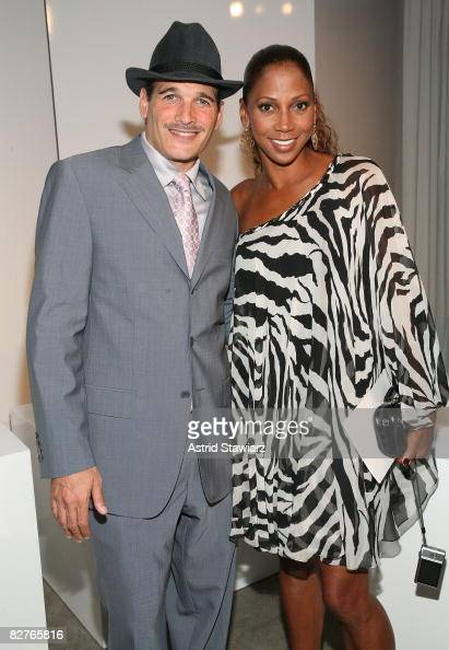 Stylist Phillip Bloch and actress Holly Robinson Peete attends the Marchesa Spring 2009 fashion presentation during MercedesBenz Fashion Week at the...