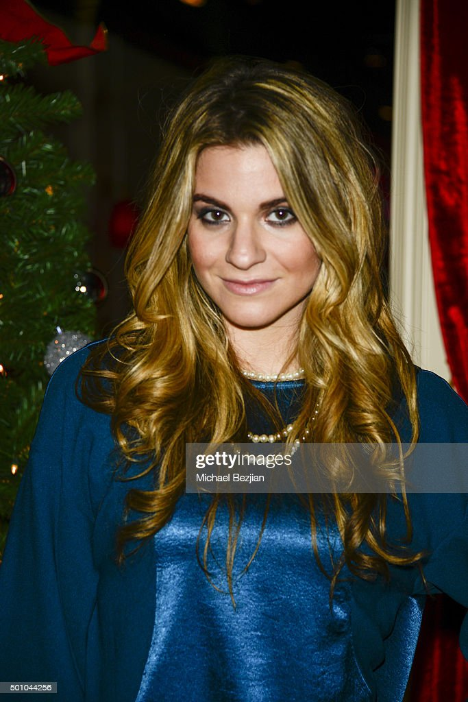Stylist Rachel McCord arrives at 2015 Obsev Studios Holiday Party on December 11, 2015 in Los Angeles, California.