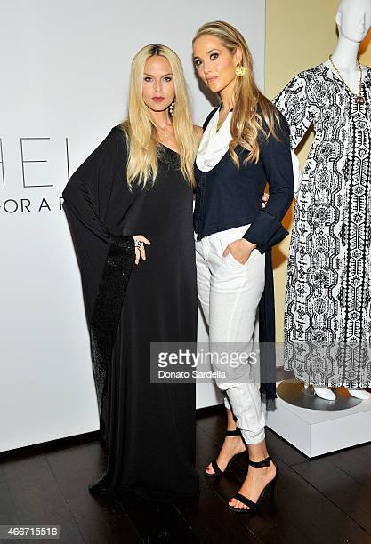 Stylist Rachel Zoe and actress Elizabeth Berkley attend Rachel Zoe and A Pea In The Pod celebrate maternity collaboration at Chateau Marmont on March...