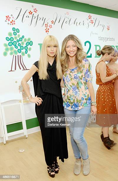 Stylist Rachel Zoe and actress Rebecca Gayheart attend Baby2Baby Mother's Day Party presented by Tiny Prints at Baby2Baby Headquarters on April 24...