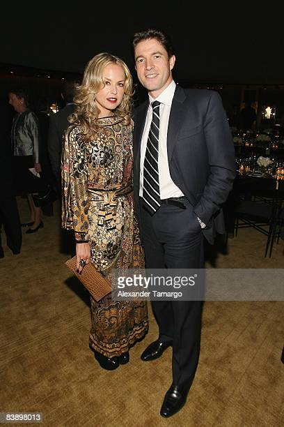 Stylist Rachel Zoe and President and CEO of Cartier North America Frederic de Narp attend a private dinner in honor of Anri Sala at the Cartier Dome...