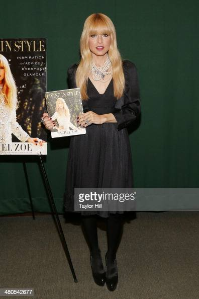 Stylist Rachel Zoe signs copies of her book 'Living In Style Inspiration And Advice For Everyday Glamour' at Barnes Noble Tribeca on March 25 2014 in...