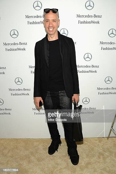 Stylist Robert Verdi attends the MercedesBenz Star Lounge during MercedesBenz Fashion Week Spring 2014 on September 11 2013 in New York City