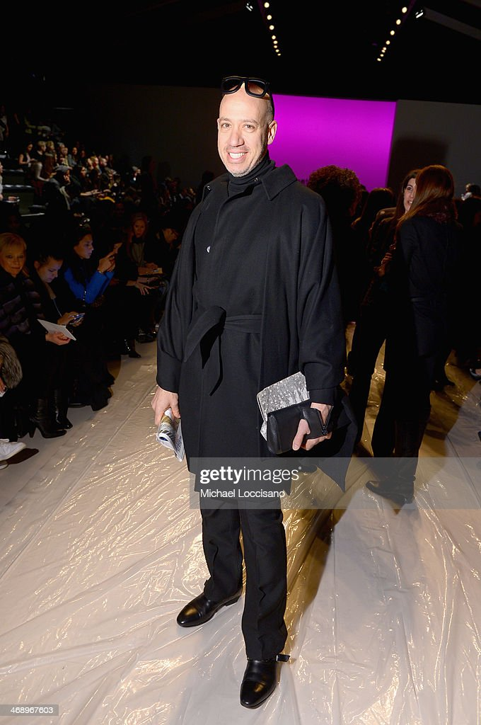 Stylist <a gi-track='captionPersonalityLinkClicked' href=/galleries/search?phrase=Robert+Verdi&family=editorial&specificpeople=209358 ng-click='$event.stopPropagation()'>Robert Verdi</a> attends the Nanette Lepore fashion show during Mercedes-Benz Fashion Week Fall 2014 at The Salon at Lincoln Center on February 12, 2014 in New York City.