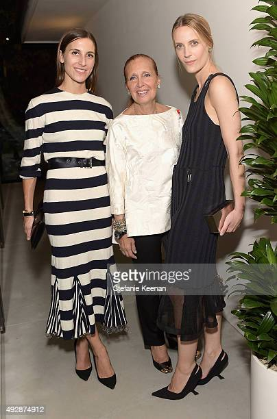 Stylist Samantha Traina novelist Danielle Steel and Executive Creative Director The Line Vanessa Traina attend The Apartment by The Line LA opening...