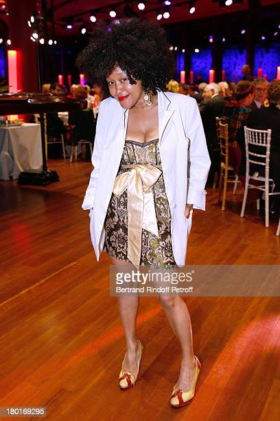 Stylist Saquina M'sa attends 'Friends of Quai Branly Museum Society' dinner party at Musee du Quai Branly on September 9 2013 in Paris France