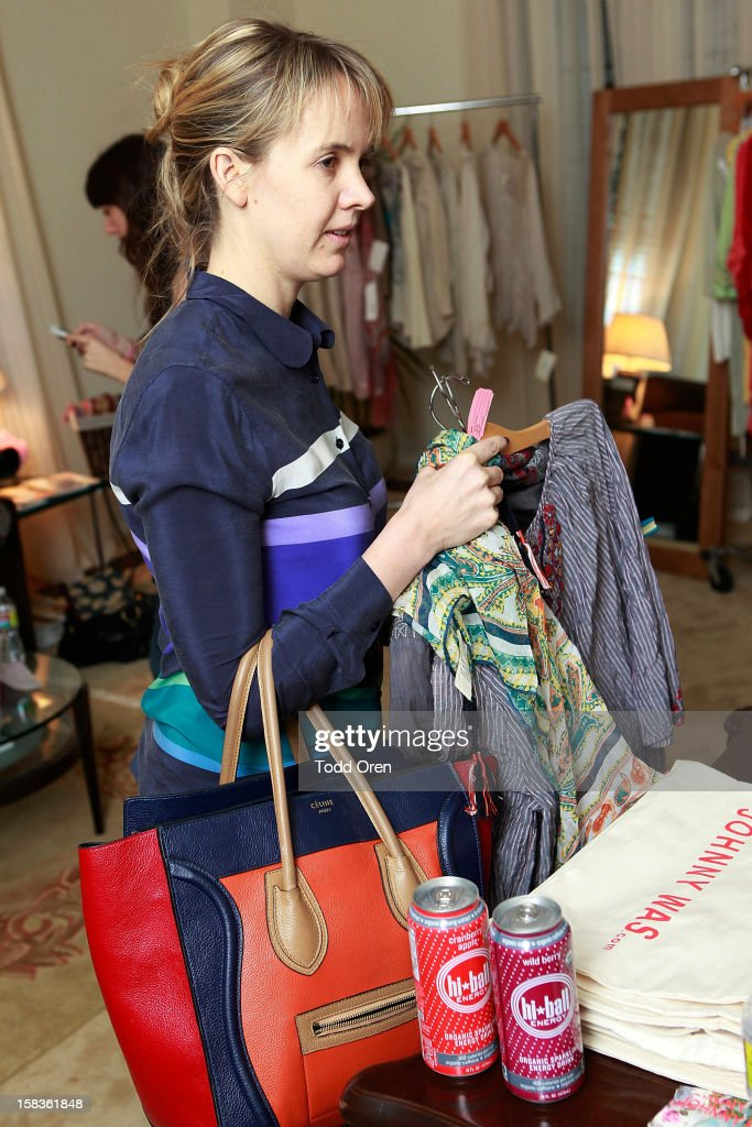 Stylist Sophia Banks Coloma shops at the Johnny Was Holiday Gifting Suite at Chateau Marmont on December 13, 2012 in Los Angeles, California.