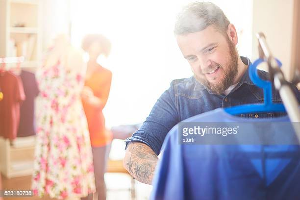 stylist steaming a garment