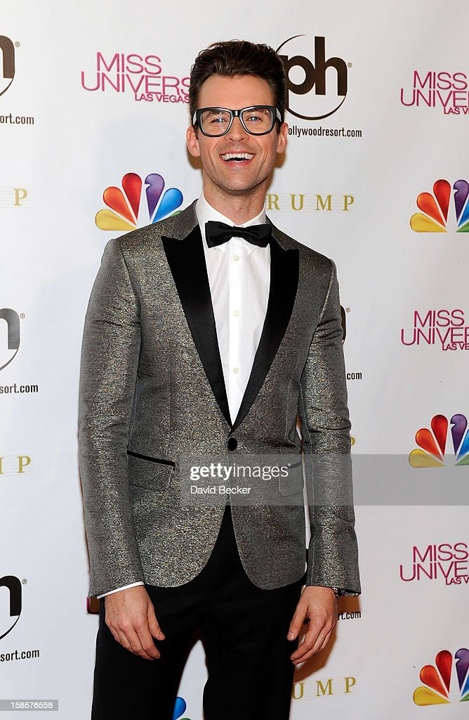 Stylist, television personality and pageant judge Brad Goreski arrives at the 2012 Miss Universe Pageant at Planet Hollywood Resort & Casino on December 19, 2012 in Las Vegas, Nevada.