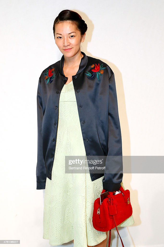 Stylist Tina Leung attends the John Galliano show as part of the Paris Fashion Week Womenswear Fall/Winter 2014-2015 on March 2, 2014 in Paris, France.