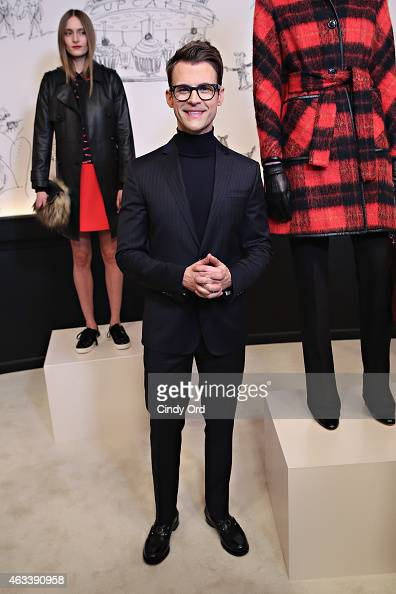 Stylist/ TV personality Brad Goreski attends the Kate Spade New York Presentation during MercedesBenz Fashion Week Fall 2015 at Center 548 on...