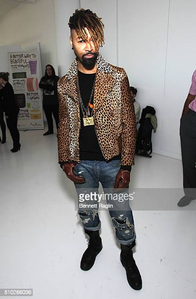 Stylist Ty Hunter poses during SheaMoisture at Laquan Smith F/W 2016 NYFW at Jack Studios on February 14 2016 in New York City