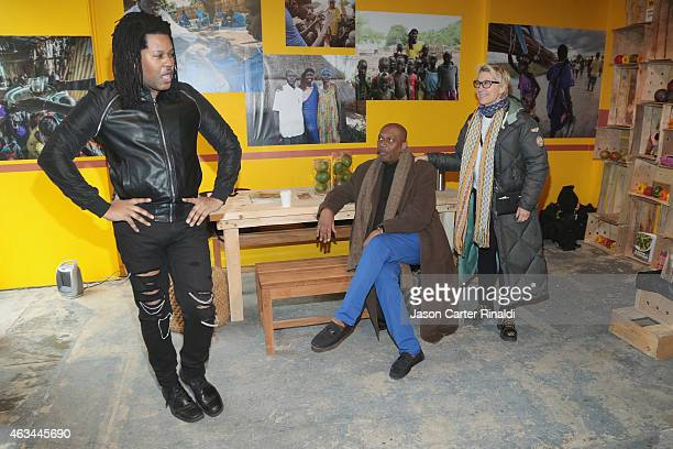 Stylist TyRon Mayes attends IRC Fashion Week PopUp and Photo Exhibition at Empire Hotel on February 14 2015 in New York City