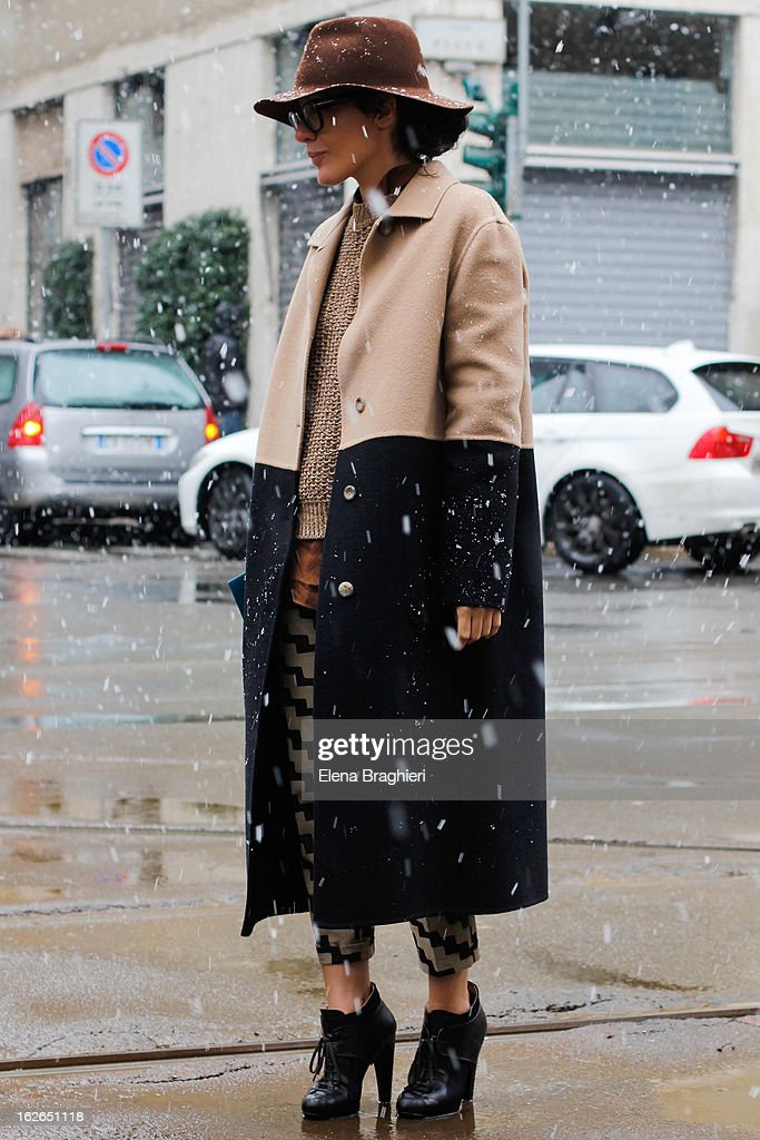 Stylist Valentina Di Pinto attends the Milan Fashion Week Womenswear Fall/Winter 2013/14 on February 25, 2013 in Milan, Italy.