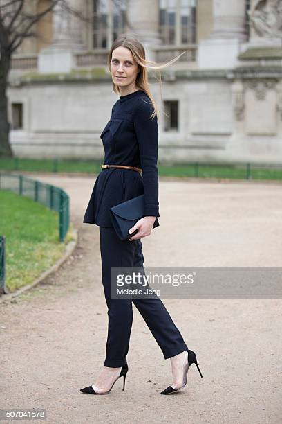 Stylist Vanessa Traina at the Chanel couture show at Grand Palais on January 26 2016 in Paris France