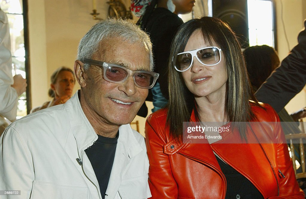 Stylist Vidal Sassoon and his wife Ronnie attend the Los Angeles debut of designer Alexander McQueen's Spring / Summer 2004 Collection at Chateau Marmont on January 21, 2004 in West Hollywood, California.