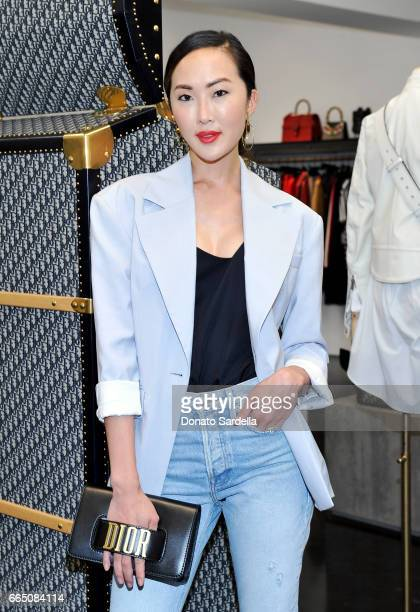 Stylist/blogger Chriselle Lim attends DIOR SS17 Collection Launch at Maxfield on April 5 2017 in Los Angeles California
