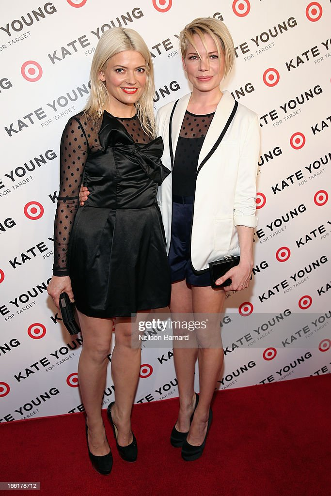 Stylist/Designer Kate Young and actress Michelle Williams attend the Kate Young for Target launch event on April 9, 2013 in New York City.