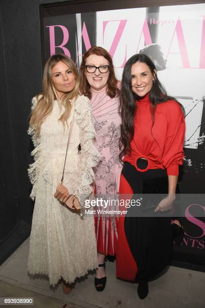 Stylist/editor Erica Pelosini Harper's Bazaar EditorinChief Glenda Bailey and Demi Moore attend Glenda Bailey's Book Launch Celebration at Eric...