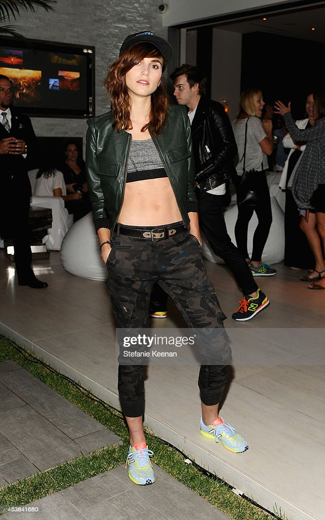 Stylist/model Langley Fox attends a dance party with New Balance and James Jeans powered by ISKO at the home of Pascal Mouawad on August 19, 2014 in Bel Air, California.