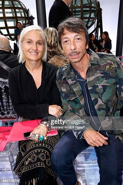 Stylists Maria Grazia Chiuri and Pierpaolo Piccioli attend the Schiaparelli Haute Couture Fall/Winter 20162017 show as part of Paris Fashion Week on...