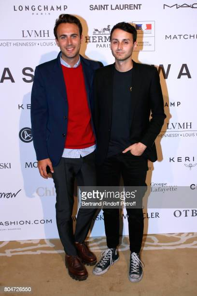 Stylists of Courreges Arnaud Vaillant and Sebastien Meyer attend the ANDAM 2017 Prize Winner Cocktail at Ministere de la Culture on June 30 2017 in...