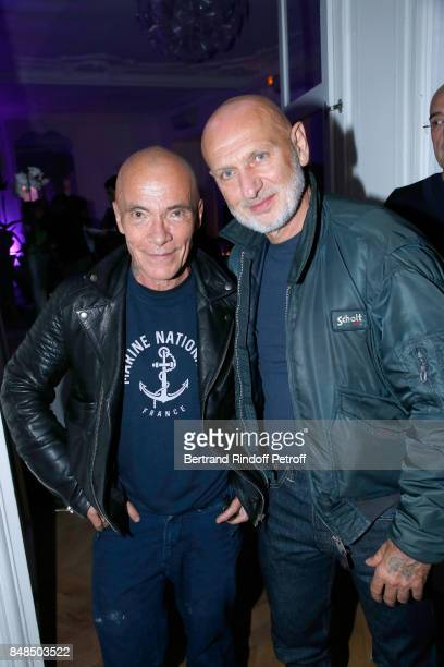 Stylists Pierre et Gilles attend the Dinner after Sylvie Vartan performed at L'Olympia on September 16 2017 in Paris France