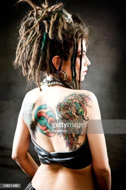 Stylized Grunge Studio Portrait of Alternative Woman