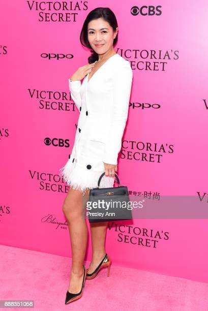 Su Mang attends 2017 Victoria's Secret Fashion Show In Shanghai Pink Carpet Arrivals at MercedesBenz Arena on November 20 2017 in Shanghai China