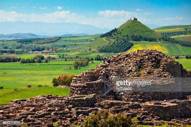 Su Nuraxi nuraghe di Barumini Las Plassas castle Barumini Marmilla Medio Campidano Sardinia Italy Europe