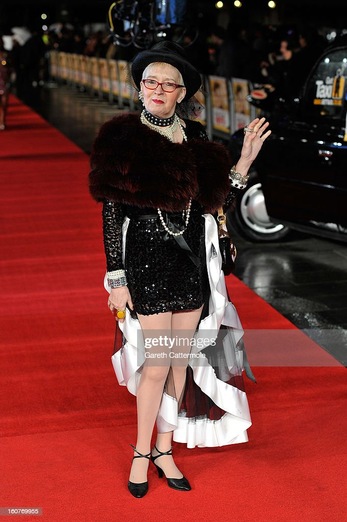Su Pollard attends the UK Premiere of 'Run For Your Wife' at Odeon Leicester Square on February 5 2013 in London England