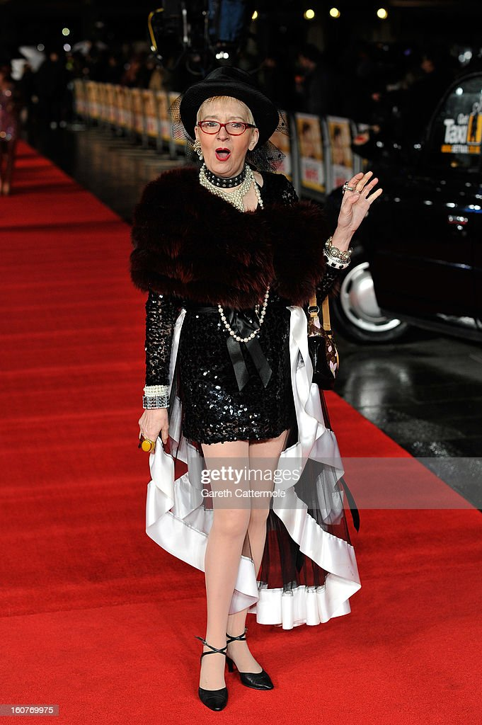 Su Pollard attends the UK Premiere of 'Run For Your Wife' at Odeon Leicester Square on February 5, 2013 in London, England.