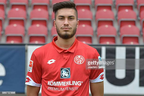 Suat Serdar poses during the official team presentation of 1 FSV Mainz 05 at Opel Arena on July 25 2016 in Mainz Germany