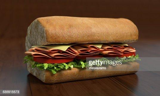 Sub sándwich media : Foto de stock