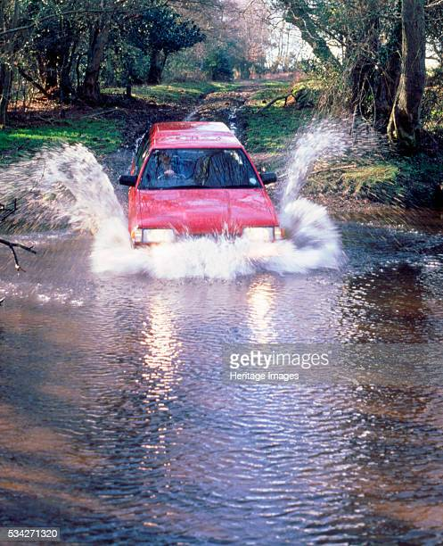Subaru 18 Turbo 4wd driving through river 2000