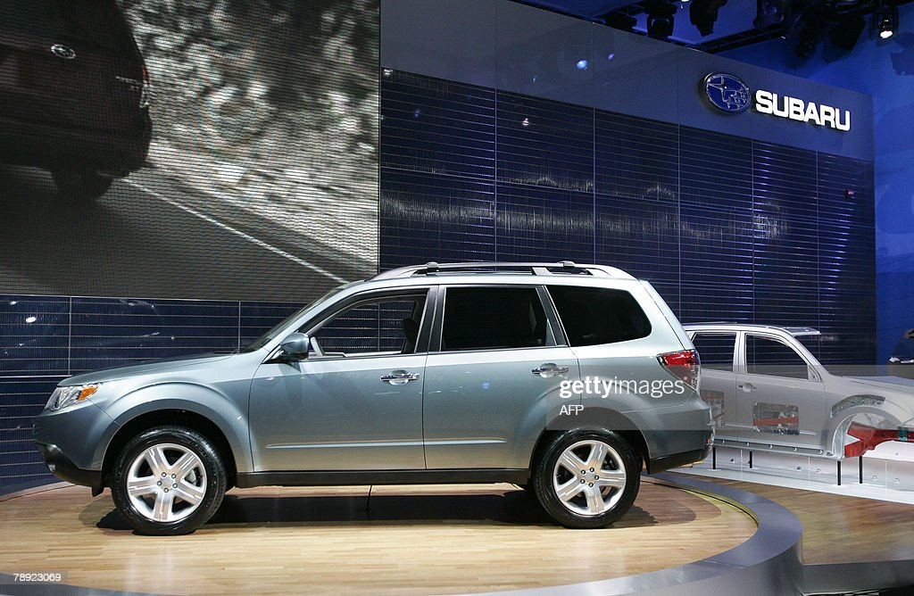 Subaru debuts the 2009 Forester at a press conference during the press days at the 2008 North American International Auto Show at Combo Hall in...