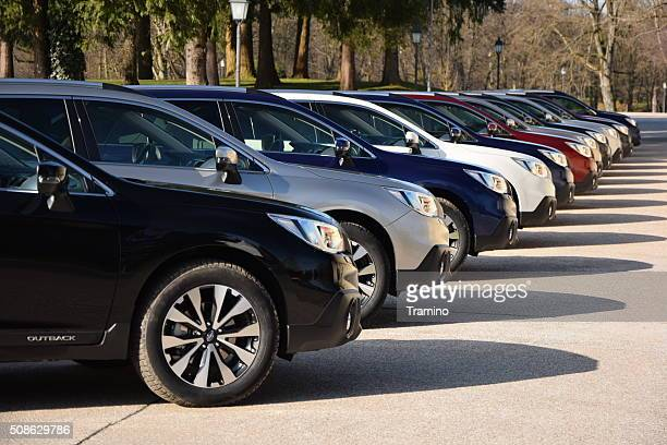Subaru Outback in a row