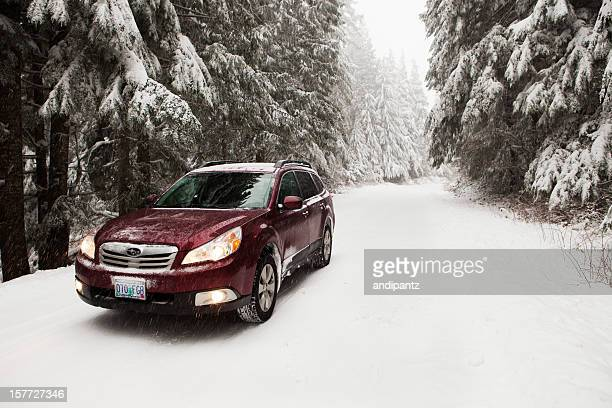 Subaru Outback in the snow