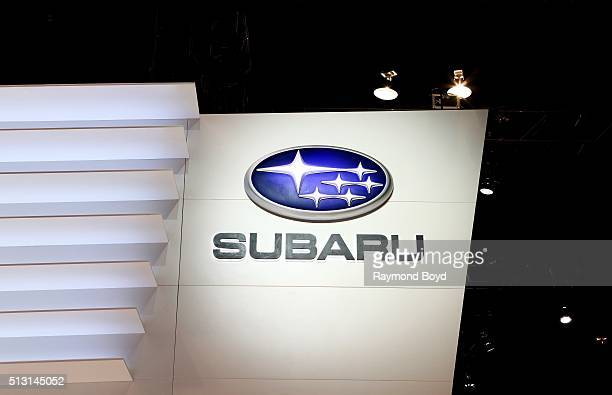 Subaru signage is on display at the 108th Annual Chicago Auto Show at McCormick Place in Chicago Illinois on February 19 2016